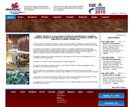Screenshot of AWMAC Atlantic website by Jukah Digital