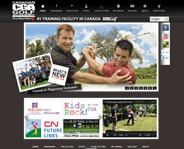 Screenshot of Canadian Golf Academy website by Jukah Digital