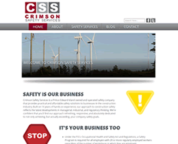 Screenshot of Crimson Safety Services website by Jukah Digital