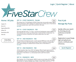 Screenshot of Five Star Crew website by Jukah Digital