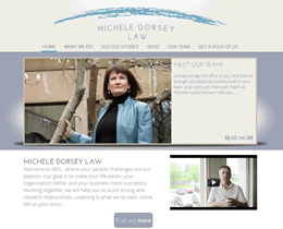 Screenshot of Michele Dorsey Law website by Jukah Digital