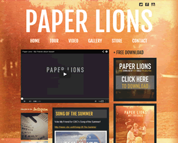 Screenshot of Paper Lions (V2) website by Jukah Digital