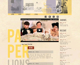 Screenshot of Paper Lions (V1) website by Jukah Digital