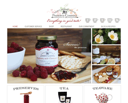 Screenshot of Preserve Company website by Jukah Digital