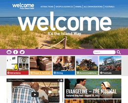 Screenshot of Welcome PEI website by Jukah Digital